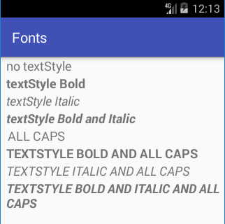 Changing the Font for Android TextViews and EditTexts | Tek Eye