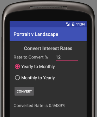 Android Portrait and Landscape Screen Layout Example | Tek Eye