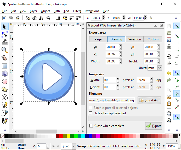 ImageButton Graphics with Inkscape, Android Example | Tek Eye