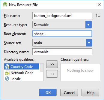ImageButton Background with Shape Drawable | Tek Eye
