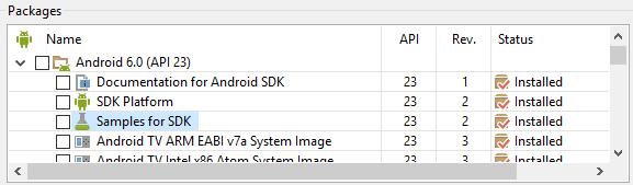 Android SDK Samples as Examples for Guidance | Tek Eye