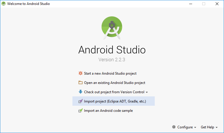 Android Studio导入项目