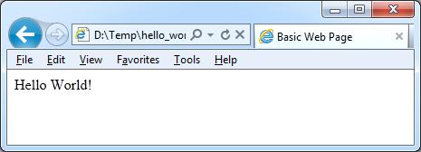 hello world in html tek eye