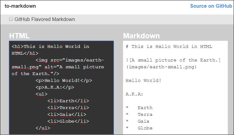 Convert HTML to Markdown | Tek Eye