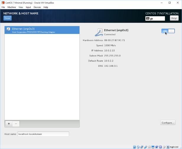 Set CentOS Network and Hostname